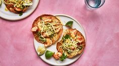 The shrimp in this tostadas recipe is even better when it's grilled. And if you go to the trouble of firing up the grill, throw the tortillas on and turn these into summertime tacos.