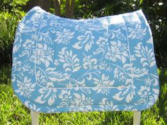 Sky Blue Saddle Pad- Just because he's a gelding doesn't mean he can't have cute saddle pads! English Horse Tack, English Saddle, Equestrian Outfits, Equestrian Style, Horse Fashion, English Riding, Saddle Pads, Clothes Horse, Horse Riding