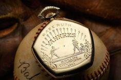 HODINKEE: On The Block: Babe Ruth's 1923 Yankees World Series Gruen Pocket Watch For Sale---  In 1923, the New York Yankees beat the New York Giants in six games to win the franchise's very first World Series. During the stretch, Babe Ruth batted .386 and hit three home runs, and as a reward for the championship he was given a heavily engraved Gruen Verithin pocket watch. Now coming up for sale at Heritage Auctions. If you're a watch lover who's into sports, it doesn't get much better than…