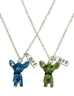 Ava & Megan-- Chihuahua Bff Glitter Dog Necklace | Girls Jewelry Accessories | Shop Justice @Jennifer Altier