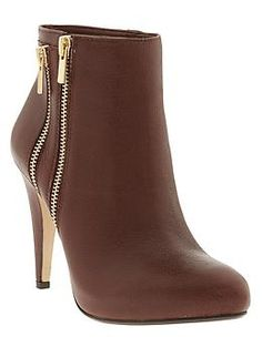 Gorgeous zipper booties by Banana Republic -50% off with code: BRFIFTY
