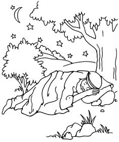 Jacob dreaming (Genesis 28) from Thru-the-Bible Coloring Pages for Ages 4-8 standardpub.com