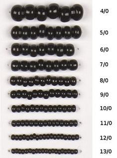 Seed Bead Sizes - Yahoo Image Search Results