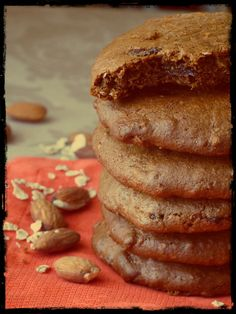 All natural almond butter, coconut and raisins cookies