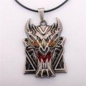League Of Legends LOL Logo Ferrell Zhuo Dezhi Heart Bloomberg Shield Model Enamel Pendant Necklace