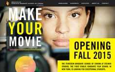 The Feirstein Graduate School of Cinema at Steiner Studios is the first public graduate film school in New York.