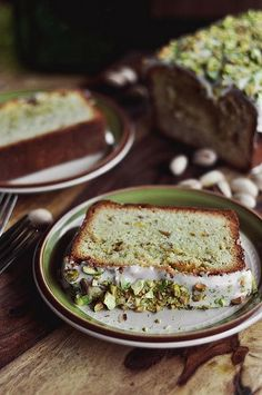 Pistachio Pound Cake - The Candid Appetite Just Desserts, Delicious Desserts, Yummy Food, Baking Recipes, Cake Recipes, Dessert Recipes, Pistachio Cake, Pistachio Recipes, Pavlova