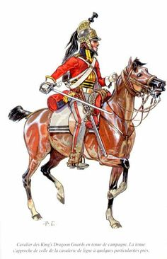 "British Kings Dragoon Guard, part of the ""heavy cavalry"" in the British army."