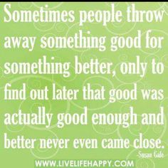 So incredibly true. The grass is never greener on the other side... Just…