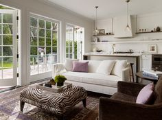 Updated, sophisticated design in an old tudor home.