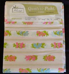 Vintage 1970s Fabric Home Decor-Woolworth Pakt Fabric-Fruit & Flowers 3 Yds NIP. $8.00, via Etsy.