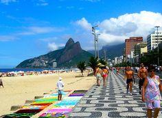 """The Girl from Ipanema"" relates to this: Ipanema Beach, Rio de Janeiro"
