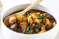 Beef and vegetable curry - Warm up this winter with our slow cooked beef and vegetable korma.