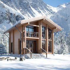 Дом деревянный из клеёного бруса сорт А, проект «Тиль», площадь 84 м², толщина стен 18 см, цена комплекта под ключ с фундаментом и монтажом всего за — 76 930 бел.руб