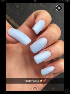 Acrylic nails baby blue