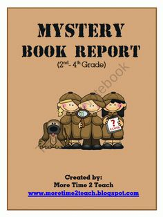 mystery book report projects