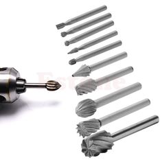 10PC Rotary File Electric Grinding Polishing Head Engraving Cutter DIY Wood Tool