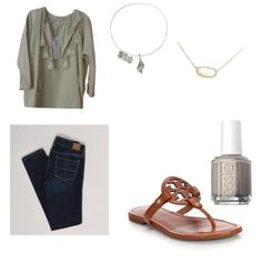Cute  by lillypulitzera on Polyvore featuring polyvore, fashion, style, H&M, American Eagle Outfitters, Tory Burch, Kendra Scott, Alex and Ani and Essie