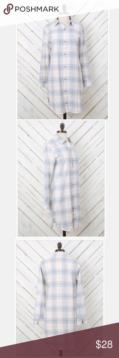 Altar'd State Flannel Button Down Plaid Sleepshirt Altar'd State Flannel Button Down Plaid Sleepshirt. Grey, Ivory & Pink. Super Comfortable and Cozy! Size Large. Brand New with Tags. Orig$40 Altar'd State Intimates & Sleepwear Pajamas