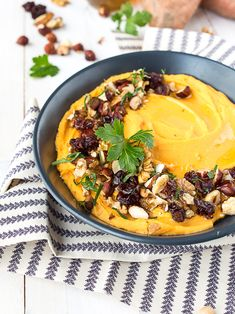 puree patate douce pois chiche et fruits secs