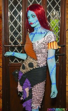 2015 Scary nightmare before christmas body painting makeup and costume for Halloween - 2015 Halloween makeup ideas by Halloween 2014, Halloween Kostüm, Halloween Cosplay, Halloween Makeup, Halloween Customs, Hallowen Costume, Cool Costumes, Cosplay Costumes, Costume Ideas