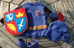 Mike The Knight Inspired Costume - Super Hero Costume - Gift Set Includes Tunic, Helmet, Shield, and Kneepads - Halloween Costume. via Etsy. Easy Costumes, Pet Costumes, Super Hero Costumes, Halloween Costumes, Knight Outfit, Knight Costume, Sewing For Kids, Diy For Kids, Mike The Knight