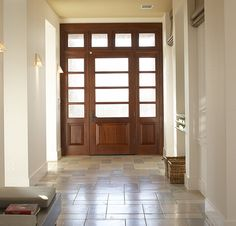 Beautiful airy but rich front entry