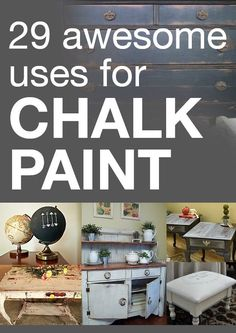 Chalkboard paint ideas you'll want to create over and over!  Which ones will you try?