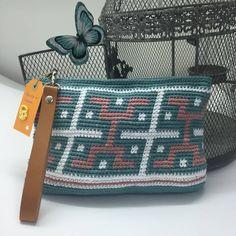Bolsos de ganchillo DIY estilo azteca con 3 ovillos de hilaturas LM Cotton Nature 3,5, Dificultad media pero vale la pena, es una maravilla lucirlo.