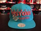 For Sale - Detroit Pistons Mitchell & Ness Throwback Blocker Snapback Hat-NBA-NWT - See More At http://sprtz.us/PistonsEBay