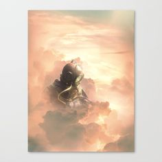 Sky diver Canvas Print by boxfox Surreal Artwork, Canvas Prints, Art Prints, Astronaut, Surrealism, Originals, Modern Art, Photoshop, Clouds