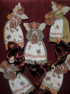 Items similar to Whimsical romantic retro vintage angels and fairies art bookmarks with sari silk ribbons - pack of 3 on Etsy Retro Vintage, Vintage Items, Fairy Art, Fashion Studio, Silk Ribbon, The Dreamers, Fairies, Whimsical, Angels
