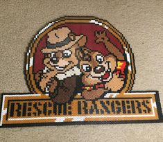 """Aaron The Iron Perler (@perler_purrs) on Instagram: """"Made this super adorable Chip and Dale Rescue Rangers piece for a friend as a Christmas gift …"""""""