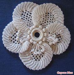 Ирландское вязание - цветок - Страна Мам