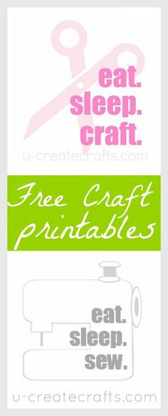 Free Craft Printables #sew