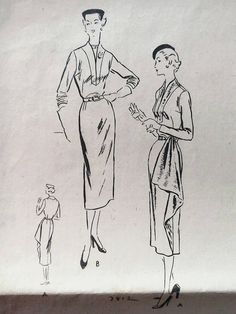 Hey, I found this really awesome Etsy listing at https://www.etsy.com/listing/241406604/vogue-50s-sewing-pattern-7812-one-piece