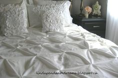 Pin Tuck Duvet Cover - I like this look better than ruffles...now I just need a sewing machine.