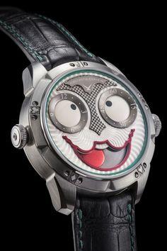 A Real April Fool's Joker: The Konstantin Chaykin Joker Watch Joker Watch, Tourbillon Watch, Swiss Made Watches, Watch Case, Luxury Watches, Cool Watches, April Fools, Let It Be, Futuristic