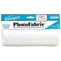"100-Percent Cotton Poplin Photo Fabric (8.5""x120"" roll) Paper-backed fabric to feed through a printer. 19.41"
