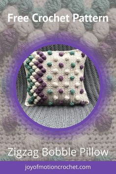 Guest designer Tainacrafts on Joy of Motion Crochet. FREE crochet pattern for a pillow. Crochet patterns for the home. Crochet Cushion Cover, Crochet Cushions, Crochet Pillow, Blanket Crochet, Crochet Stitches, Granny Square Bag, Crochet Granny Square Afghan, Granny Granny, Square Blanket