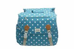Cykelväska Joli Double Polka Blue via Everyday Bag - Cykelväskor. Click on the image to see more!