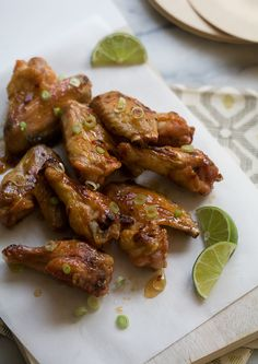 Hot Honey Lime Chicken Wings from @A Cozy Kitchen