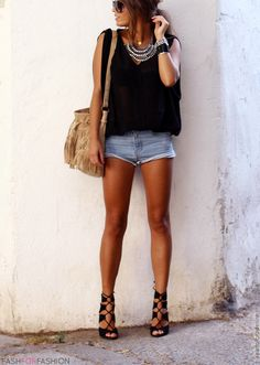 fashforfashion -♛ STYLE INSPIRATIONS♛: bohoaztec. When my legs look like that, I'll wear that outfit!