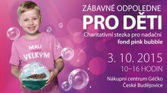 Internetový banner k charitativní stezce pro Nadační Fond Pink Bubble.