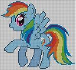 Rainbow Dash Pattern by ~Jackiekie on deviantART