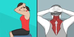 9 Stretching Exercises That Can Replace a Massage Session – Green Challenge Back Stretching, Low Back Stretches, Neck Stretches, Stretching Exercises, Chest Muscles, Core Muscles, Back Muscles, Superman, Upper Body