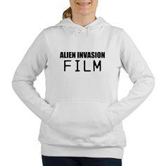 ALIEN INVASION FILM Women's Hooded Sweatshirt