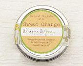 Natural Lip Balm - Sweet Orange - Honey, Beeswax, Sweet Orange Essential Oil, Sweet Almond Oil