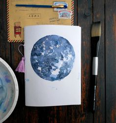 Space, Moon journal,Scetchbook,pocket notebook,blank page,journals, graduation gift, travel diary, pregnancy journal, Waterkolour journal, This notebook makes the perfect gift for travelling, life plannig, scetching companion of you. One Of a kind, cause every journal i paint by myself