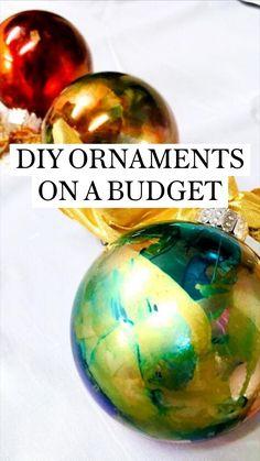 Christmas Ornament Crafts, Christmas Art, Christmas Projects, Holiday Crafts, Christmas Holidays, Christmas Bulbs, Christmas Decorations, Christmas Makes, Inspiration